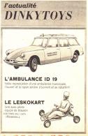 "PUB AMBULANCE ID 19 / LESKOKART  "" DINKY TOYS  ""   1962 - Advertising - All Brands"