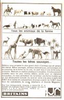 """PUB  BRITAINS """" ANIMAUX DE LA FERME Et ANIMAUX SAUVAGES """" 1964 - Andere"""