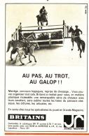 """PUB  BRITAINS """" AU PAS , AU TROT , AU GALOP  """" 1965 - Autres"""