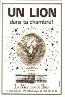 """PUB MONNAIE DE PARIS """" """" LE LION DE JACQUES BIRR """" 1983 - France"""