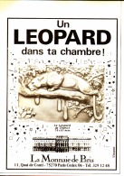 """PUB MONNAIE DE PARIS """" """" LE LEOPARD DE THENOT """" 1983 - France"""