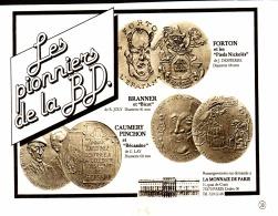 """PUB MONNAIE DE PARIS """" """" LES PIONNIERS DE LA BANDE DESSINNEE  """" 1981 - France"""
