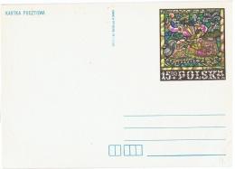 VIT-L8 - POLOGNE Entier Postal Thème Vitrail - Vetri & Vetrate