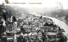 [DC3555] CPA - BELGIO - DINANT - LA MEUSE EN AMONT - VUE PRISE DE LA CITADELLE - Viaggiata - Old Postcard - Dinant
