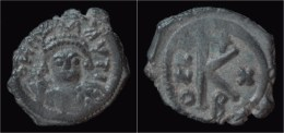 Maurice Tiberius Half  Follis - Byzantines