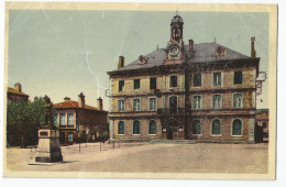 Loire - 42 - La Ricamarie Place De La Mairie Et Statue De Michel Rondet - Autres Communes