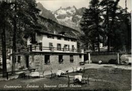 COURMAYEUR  ENTREVES  PENSIONE  CHALET  CHANTON         (VIAGGIATA) - Italy