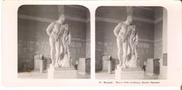 40  Napoli: Museo Delle Sculture, Ercole Farnese. - Stereoscope Cards