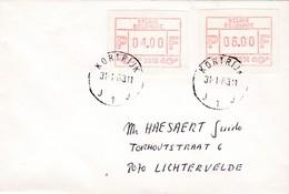 FRAMA / AQTM  Nr16 A       Kortrijk 3016  Op Gelopen Brief - Postage Labels