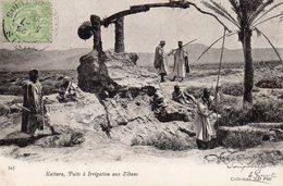 8673. CPA MAROC. KATTARA. PUITS A IRRIGATION AUX ZIBANS. - Maroc