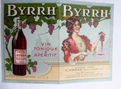 """66 - Thuir - Carte Publicitaire Vin Tonique Et Apéritif """"BYRRH"""" Maison Violet, Calendrier 1914 - Publicités"""