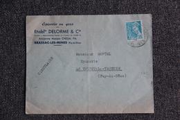 Enveloppe Publicitaire - BRASSAC LES MINES - Etablissements DELORME Et Cie, Epicerie En Gros. - Lettres & Documents