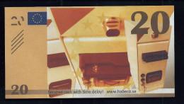 """Test Note """"HABECO Schweden"""" Testnote, 20 EURO, TYP B = 124 X 68 Mm, Beids. Druck, RRRRR, UNC - EURO"""