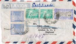 19884. Frontal Aereo Certifcado  COCHABAMBA (Bolivia) 1947 To England - Bolivia