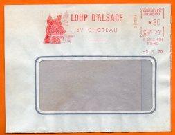 PONCHIN NORD   LOUP D'ALSACE   1970  Lettre Coupée  N° X 90 - EMA (Empreintes Machines à Affranchir)