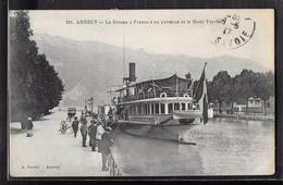 CPA 74 - Annecy, Le Bateau France En Partance Et Le Mont  Veyrier - Annecy-le-Vieux