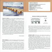 PONT ROMAIN DE MERIDA BADAJOZ - DOCUMENT INSTRUCTIF DE L´ÉMISSION DE TIMBRE ESPAGNE - España