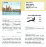 PONT DU PILAR ZARAGOZA - DOCUMENT INSTRUCTIF DE L´ÉMISSION DE TIMBRE ESPAGNE - España