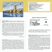 PONT DE FRÍAS BURGOS - DOCUMENT INSTRUCTIF DE L´ÉMISSION DE TIMBRE ESPAGNE - España