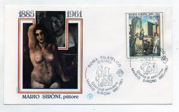 Italia- 1985 - Busta FDC - Mario Sironi - Pittore - Con Doppio Annullo Filatelico Roma - (FDC1371) - FDC