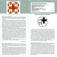 EMISSION JOINT ESPAGNE-BELGIQUE - LA CROIX ROUGE - HENRI DUNANT - DOCUMENT INSTRUCTIF DE L´ÉMISSION DE TIMBRE ESPAGNE - España