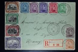Belgium: Registered Cover  OPB Nr 135 - 145 St. Abresse France To Nancy France, 1916 - 1915-1920 Albert I