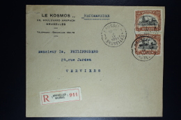 Belgium: Registered Cover  OPB Nr 2* 142 Brussels To Verviers 1921 - 1915-1920 Albert I