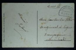 Belgium: Postcard  Half Round Cancel Thimister-Clermont  16-1-1919 - 1915-1920 Albert I