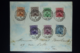 Belgium: 2 Covers St. Adresse France To NIce France  OBP 135 - 146 (on 2 Covers!) - 1915-1920 Albert I