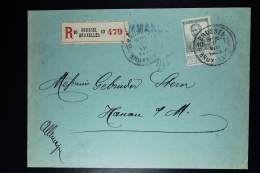 Belgium:  Registered Cover OBP  115  Brussels To Hanou Am Main 1913