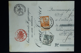 Belgium:  Bank  Cheque OBP  116 + 115    1914