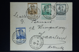 Belgium:  Cover OBP  113 + 115 + 121 + 125 Le Havre Special To Haarlem Holland   1915