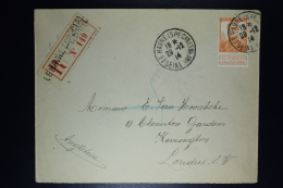 Belgium: Registered Cover OBP  116 Le Havre Special To London  30-12-1914