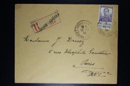 Belgium: Registered Cover OBP  117 Le Havre Special To London  18-11-1914 - 1912 Pellens