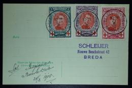 Belgium:  Card OBP  132 - 134 Baarle Hartog To Breda 1915 - 1914-1915 Rode Kruis