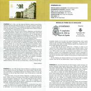 75 ANNIVERSAIRE DES ROIS DE L'ESPAGNE - PALACE ROYAL MADRID  - DOCUMENT INSTRUCTIF DE L´ÉMISSION DE TIMBRE ESPAGNE - España