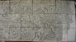 Authentique Carte De CASSINI XVIIIème - Pliée Entoilée - N°152 Et 167 - EMBRUN - BARCELONNETTE - SISTERON - L'ARCHE - Cartes Topographiques