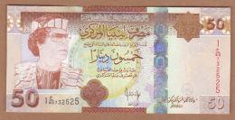 AC -  LIBYA - 50 DINARS MUAMMAR MOHAMMED ABU MINYAR GADDAFI UNCIRCULATED - Libya