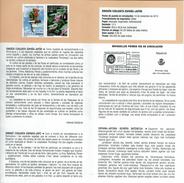 EMISSION JOINT ESPAGNE-JAPON - GERANIUM - LESPEDEZA THUNBERGII - DOCUMENT INSTRUCTIF DE L´ÉMISSION DE TIMBRE ESPAGNE - España
