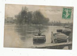 Cp , 92 , Pont De PUTEAUX , Les Bords De La SEINE , Voyagée  , Barques - Puteaux