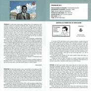 PERSONNAGES - ADOLFO GONZALEZ SUAREZ - ANCIEN PRÉSIDENT DE ESPAGNE - DOCUMENT INSTRUCTIF DE L´ÉMISSION DE TIMBRE ESPAGNE - España