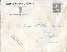 ENVELOPPE FACTURE  MANDAT CARTE  EUGENE ET MARC ANTOINE VIDAU CABANNES B. DU RHONE 1932 PEPINIERISTES - Agriculture