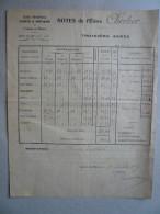 Ecole Nationale D'ARTS ET METIERS De Châlons-sur-Marne: NOTES De L'élève C...Troisième ANNEE: 1924/1925 - Vieux Papiers