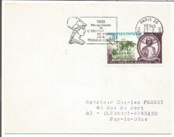1 ER JOUR FLAMME PARIS 25 1969  NAPOLEON - Poststempel (Briefe)