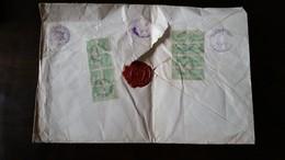 LETTRE RECOMMANDEE 1927 LEGATION EGYPTE BUCAREST ROUMANIE CACHET BUCURESTI GRIVITA RECOMANDATE A GASTON GALLIMARD PARIS - Storia Postale