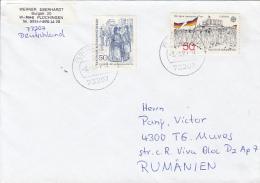 51533- BRANDENBURG DOOR, HAMBACH FESTIVAL, STAMPS ON COVER, 1995, WEST GERMANY - Storia Postale
