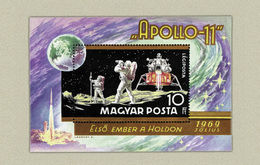 Hungary 1969. Space - Apollo 11. - Nice Sheet MNH (**) Michel: Bl.72a / 9 EUR - Unused Stamps
