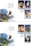 ROUMANIE. 2 Enveloppes 1er Jour De 2003. Chouette/Hibou. - Hiboux & Chouettes