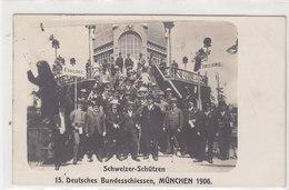 Schweizer Schützen Beim Deutschen Bundesschiessen In München - 1916 - Fotokarte   (P9-11226) - Waffenschiessen