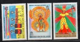 1998 Virgin Islands Childrens Art  Complete Set Of 3 Stamps  MNH - British Virgin Islands